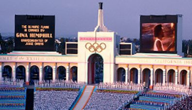Photo: ASTROVISION large display units installed at the main stadium of the Olympic Games Beijing 2008