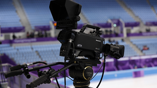 Photo of a P2HD Series camera recorder installed at a PyeongChang 2018 Winter Games venue