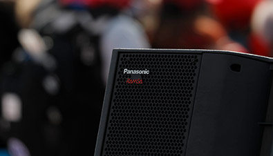 Photo of  RAMSA logo put on the speaker