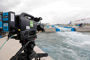 Photo: Camera installed at a canoeing venue of the Olympic Games Rio 2016