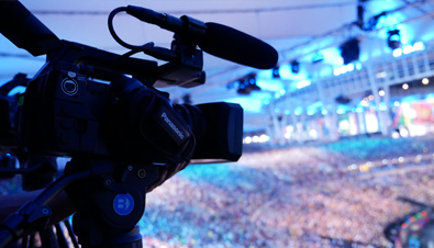 Photo: HD camera recorder installed at a venue of the Olympic Games Rio 2016
