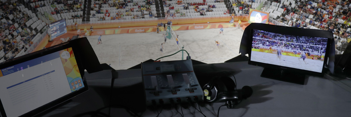 Photo: Video adjudication system installed at a venue of the Olympic Games Rio 2016