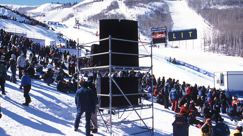 Photo: RAMSA speakers installed at one of the skiing venues of the Olympic Winter Games Salt Lake 2002