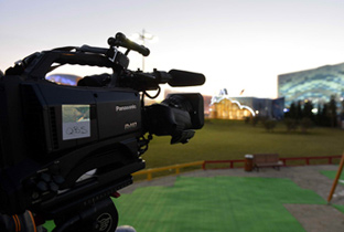 Photo: HD camera recorder installed at a venue of the Olympic Winter Games Sochi 2014
