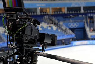 Photo: HD camera recorder installed at the skating venue of the Olympic Winter Games Sochi 2014
