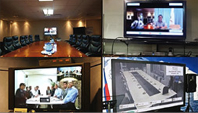 Photo: Video conference using the HD Visual Communications System
