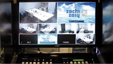 Photo: Video editing screen of the HD Visual Communications System
