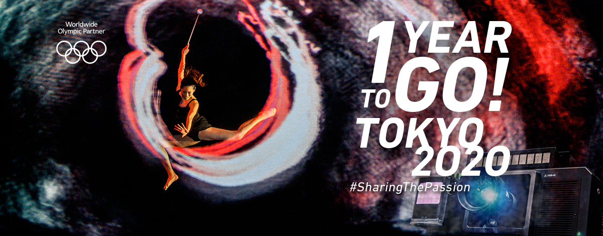 Worldwide Olympic Partner  1YEAR TO GO! TOKYO2020 #SharingThePassion