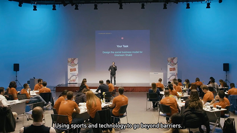 Using sports and technology to go beyond barriers.