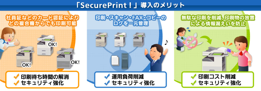 「SmartSESAME SecurePrint!」導入のメリット