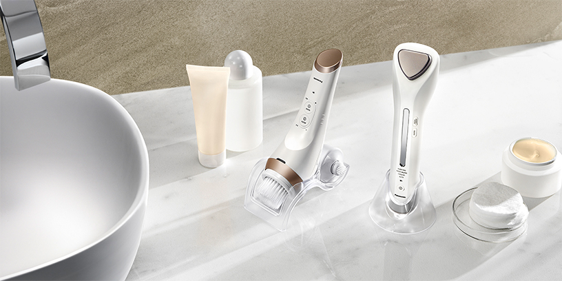 Photo: Micro-foaming face cleansing device and Ionic cleansing & toning device