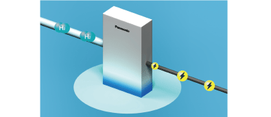 Image of electric generation by Pure Hydrogen Fuel Cell