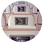 Photo: In-flight full AVOD entertainment system