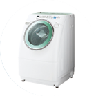 Photo: Slanted Drum-Type Washer-Dryer
