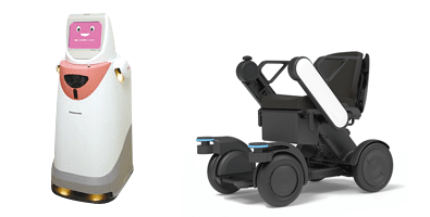 Photo: Autonomous delivery robot and Personal mobility robot