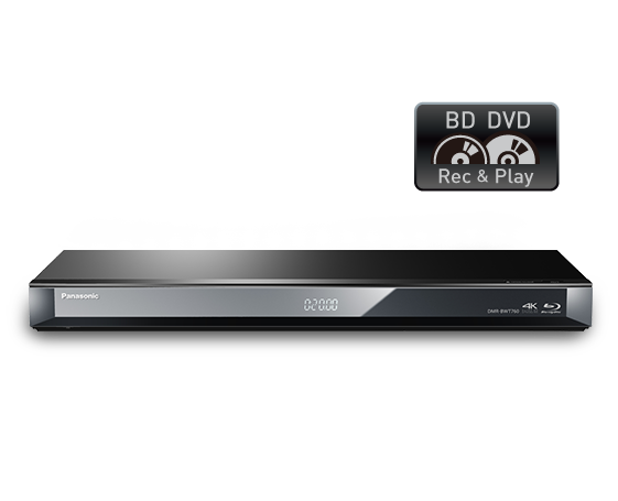 Smart Network 3D Blu-ray Disc™/DVD Recorder with Twin HD Tuner DMR-BWT760GN