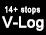 Capture V-Log de plus de 14 valeurs F