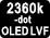 LVF OLED 2 360 000 points