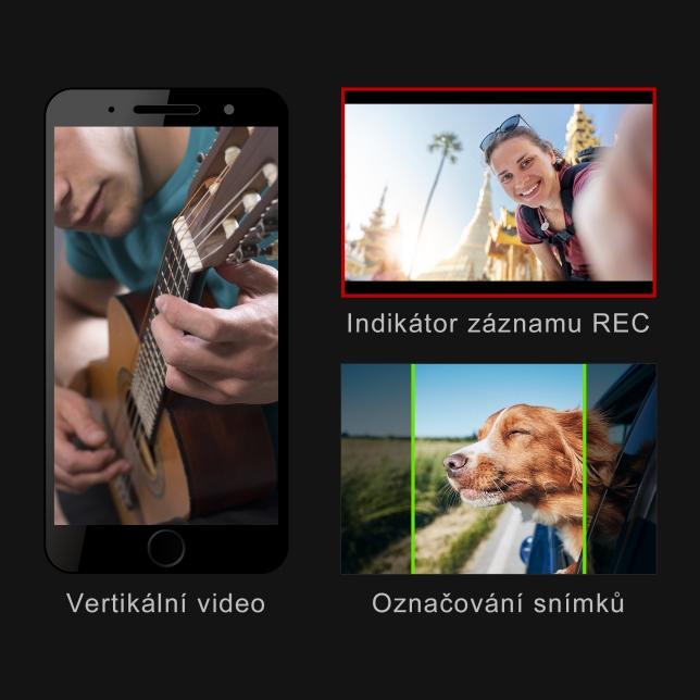 Natočte své video pomocí těchto pohodlných funkcí.