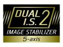 5-osý stabilizátor Dual I.S. 2 (stabilizátor obrazu)