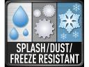 Odolný proti prachu, mrazu a stříkající vodě