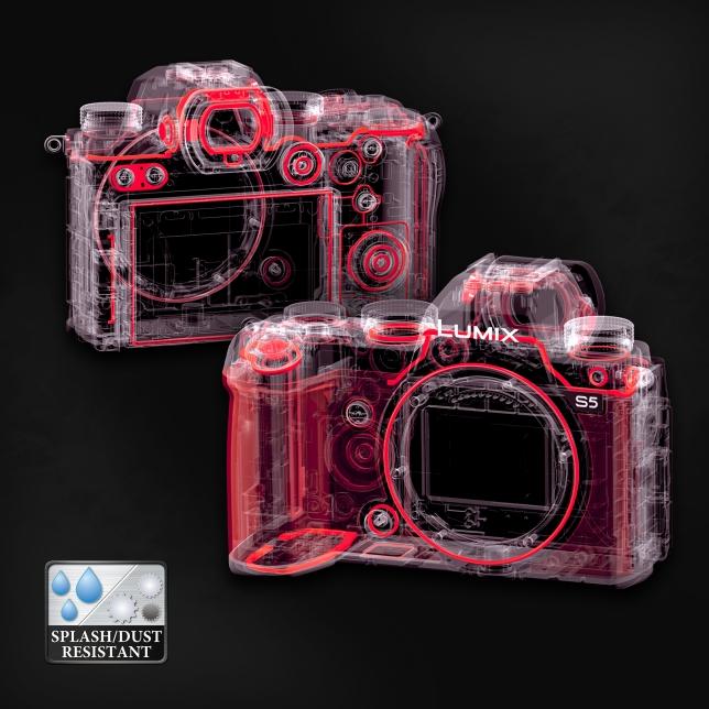 Kompaktní a odolné tělo fotoaparátu