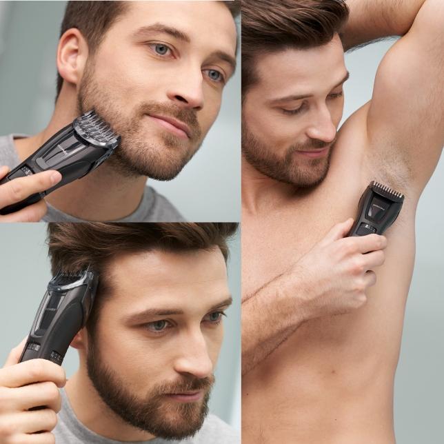 Přesný zastřihovač pro úpravy vousů, vlasů a chlupů na těle