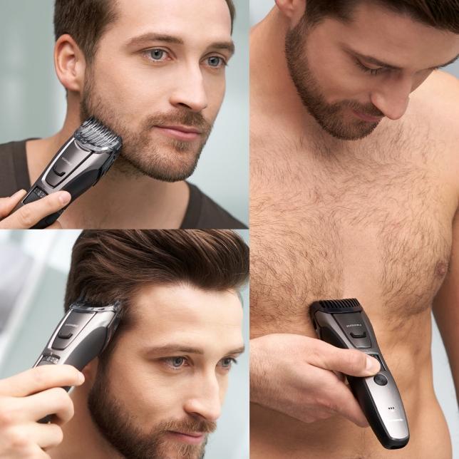 Přesný zastřihovač pro úpravy bradku, vlasů a chlupů na těle