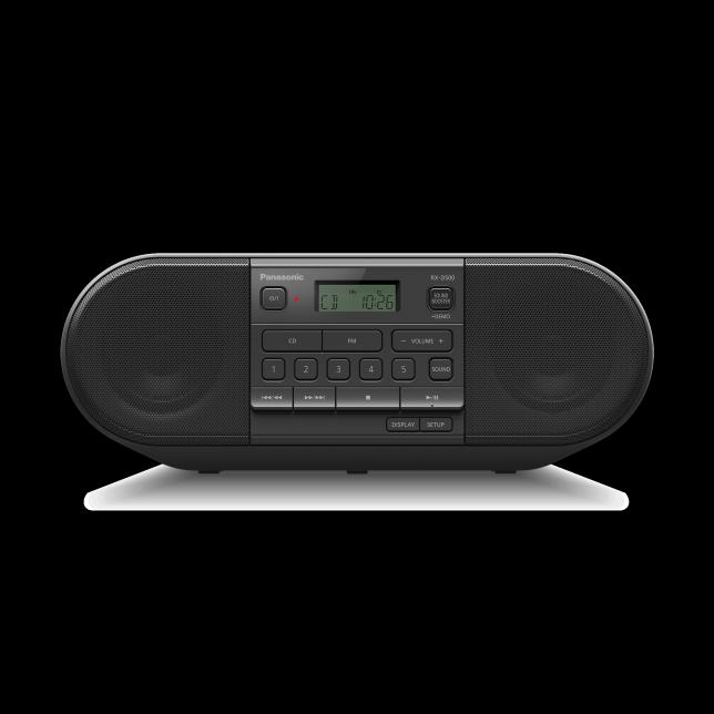 Foto RX-D500 – výkonné přenosné FM rádio a přehrávač CD