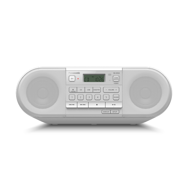 Foto RX-D552 – výkonné přenosné DAB+rádio a přehrávač CD s Bluetooth® : Bílá