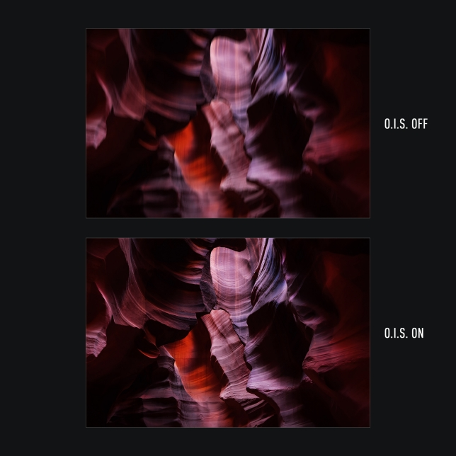 O.I.S. pro ultra ostré fotografie