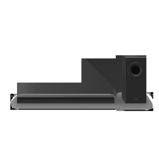 Foto SC-HTB490: Štíhlý soundbar s výkonnými basy