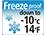 Frostfest bei bis zu -10°C / 14°F