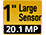 20,1 Megapixel 1-Zoll-Sensor