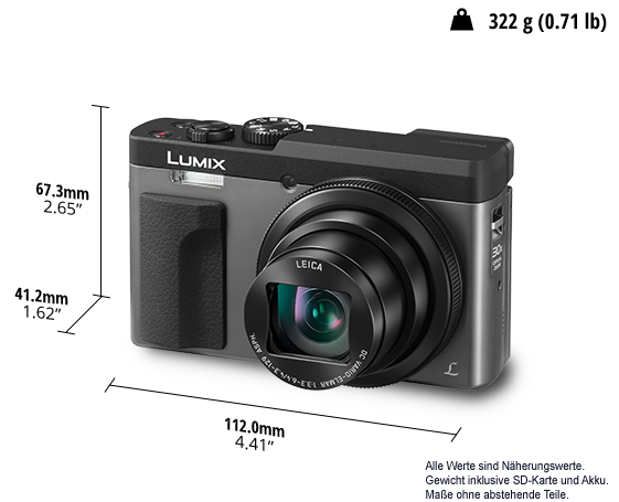 Digitalni fotoaparat LUMIX DC-TZ91