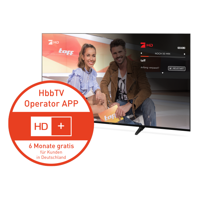 Mehr Komfort dank HD+ HbbTV Operator App*