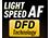 Contraste de AF con tecnología DFD