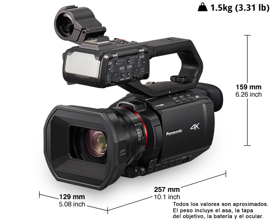 Videocámara profesional 4K HC-X2000