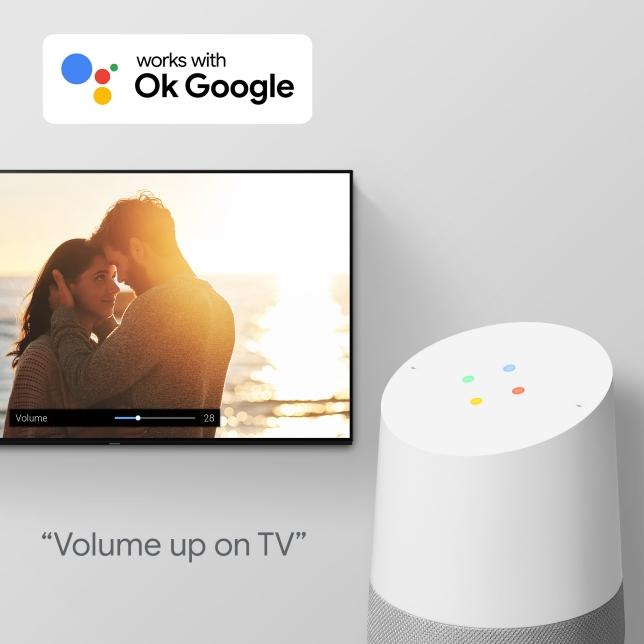 Käytä televisiotasi äänikomennoilla Googlen avulla