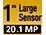 Capteur 20,1 mégapixels de 2,54cm