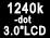 Moniteur arrière orientable de 1240000points