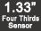 Capteur 17mégapixels de type 4/3 (1,33)