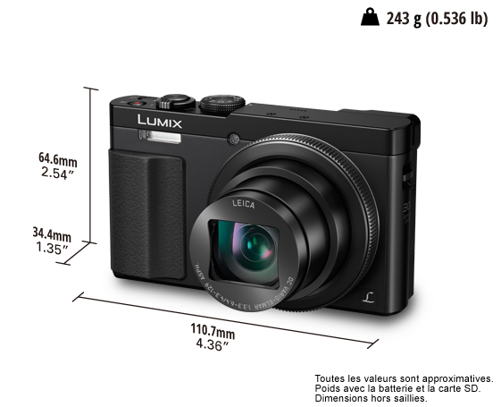 Appareil photo numérique LUMIX DMC-TZ70