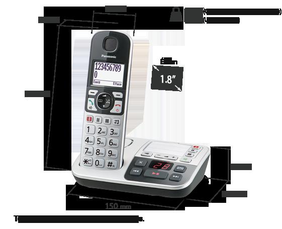 Téléphone sans fil avec répondeur KX-TGE520
