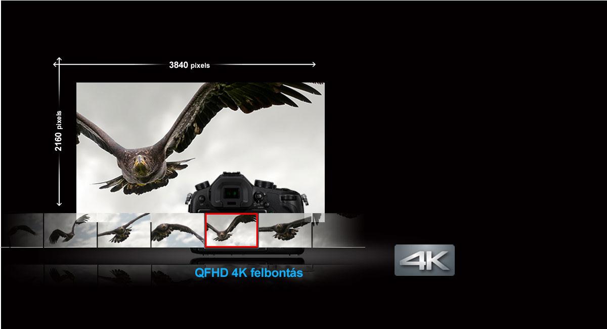 4K videorögzítés és 8 megapixeles állóképek