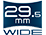 29,5 mm-es széles látószög