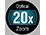 20× optikai zoom