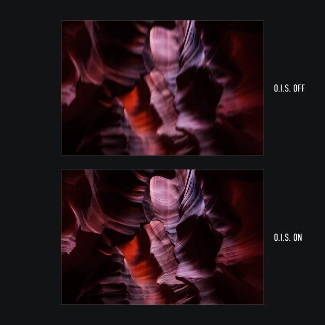 O.I.S. (optikai képstabilizátor) a szuperéles fotókért