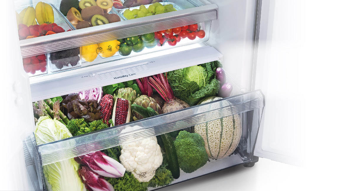 Two-layer vegetable case