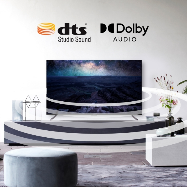 High quality and surrounded sounds supported by DTS and Dolby Audio